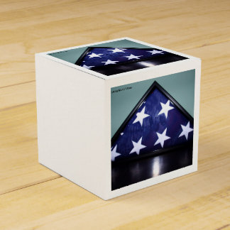 American flag box party favor boxes