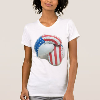 American Flag Boxing Gloves T-Shirt