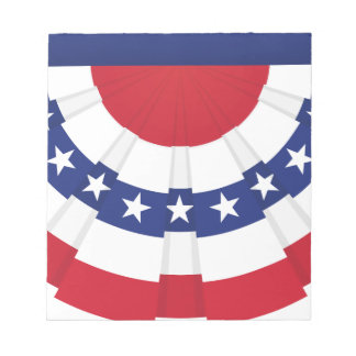 American Flag Bunting Notepad