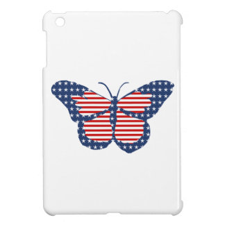 American Flag Butterfly Abstract Art Cover For The iPad Mini