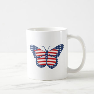 American Flag Butterfly Abstract Art Mug