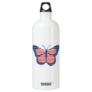 American Flag Butterfly Abstract Art SIGG Traveler 1.0L Water Bottle