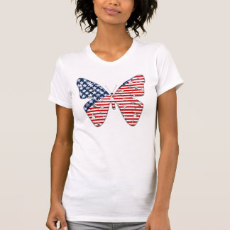 American Flag Butterfly T-Shirt