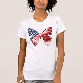 American Flag Butterfly Tshirts