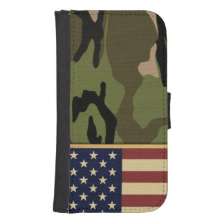American Flag Camo Galaxy S4 Wallet