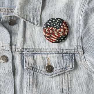 American Flag-Camouflage by Shirley Taylor 2 Inch Round Button