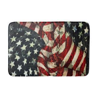 American Flag-Camouflage by Shirley Taylor Bath Mat