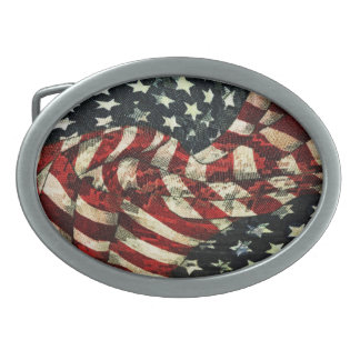 American Flag-Camouflage by Shirley Taylor Belt Buckles