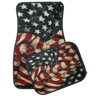 American Flag-Camouflage by Shirley Taylor Car Mat