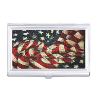 American Flag-Camouflage by Shirley Taylor Case For Business Cards
