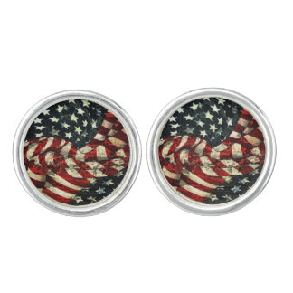 American Flag-Camouflage by Shirley Taylor Cufflinks