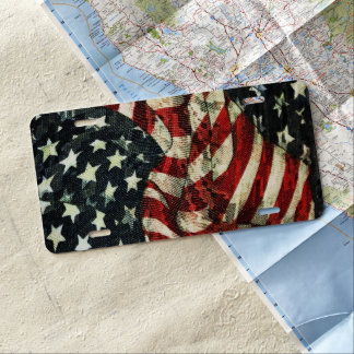American Flag-Camouflage by Shirley Taylor License Plate