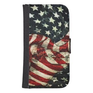 American Flag-Camouflage Phone Wallet Case