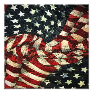 American Flag-Camouflage Photographic Print