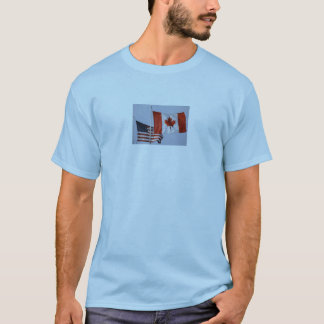 AMERICAN FLAG / CANADIAN FLAG T-Shirt