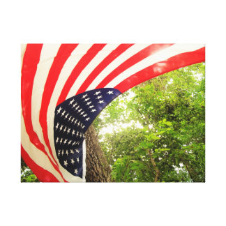 American Flag Canvas Decoration (#01) Stretched Canvas Print