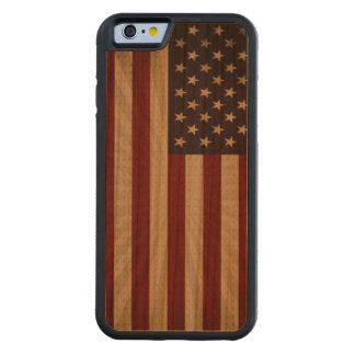 American Flag Carved Cherry iPhone 6 Bumper Case