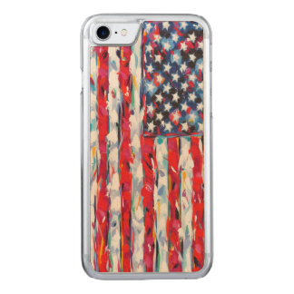 American Flag Carved iPhone 7 Case