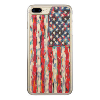 American Flag Carved iPhone 7 Plus Case