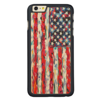 American Flag Carved® Maple iPhone 6 Plus Case