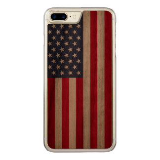 American Flag carved® walnut iPhone 7 Plus bumper Carved iPhone 7 Plus Case