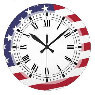 American Flag - Celebrate the USA - July 4 Classic Wallclocks