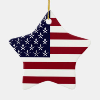 AMERICAN FLAG CERAMIC ORNAMENT