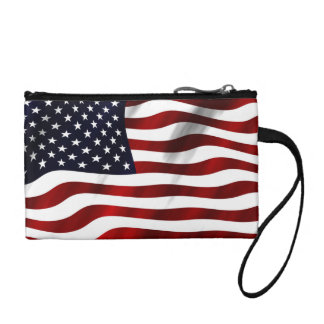 American Flag Change Purse