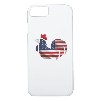 American Flag Chicken Funny Pet Lover Gifts Case-Mate iPhone Case