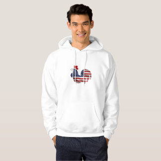 American Flag Chicken Funny Pet Lover Gifts Hoodie