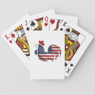 American Flag Chicken Funny Pet Lover Gifts Playing Cards