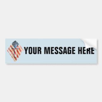 American Flag Christian Faith Cross Vintage Look Bumper Sticker