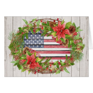 American Flag Christmas / Holiday Card