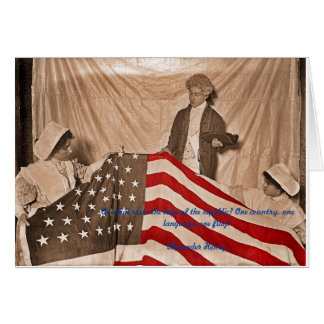 American Flag Circa 1890's Photograph and quote Card