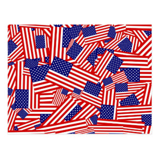 American Flag Collage Postcard