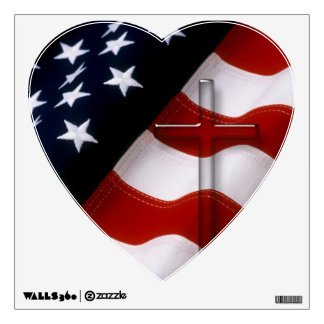 American Flag Cross 1 Custom Wall Decals 2
