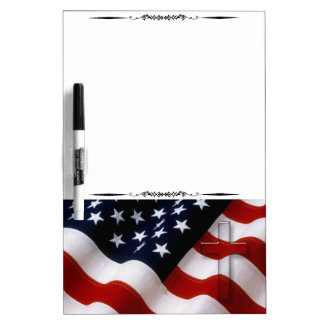 American Flag Cross Magnetic Dry Erase Board 2