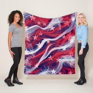 American flag Custom Fleece Blanket