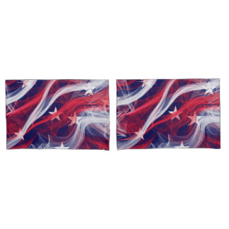 American flag Custom Pair of Pillowcases