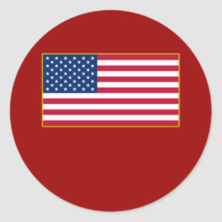 American Flag Customizable Products Round Sticker