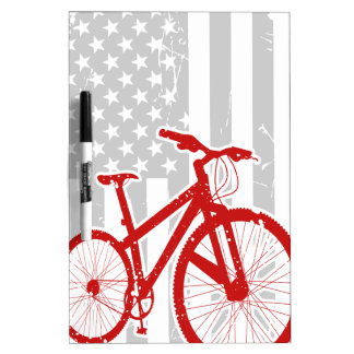 American Flag Cycling T-Shirt Dry Erase Whiteboards