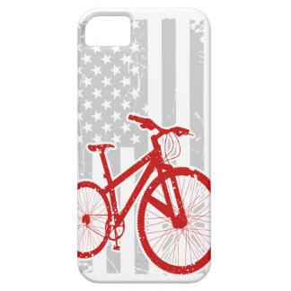 American Flag Cycling T-Shirt iPhone 5 Case
