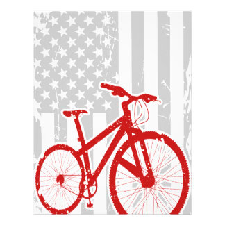 American Flag Cycling T-Shirt Personalized Letterhead