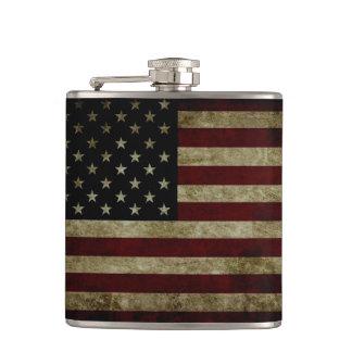 American Flag Dark Flask