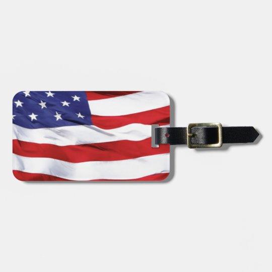 American Flag Design Bag Tag