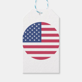 american-flag design circle design gift tags