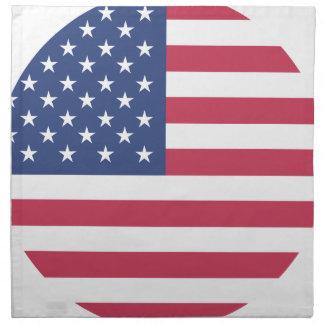 american-flag design circle design napkin