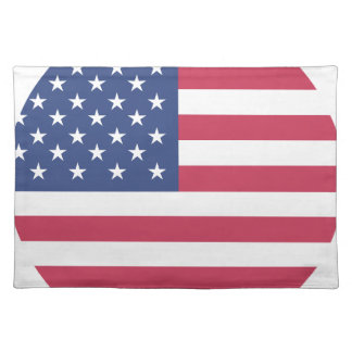 american-flag design circle design placemat