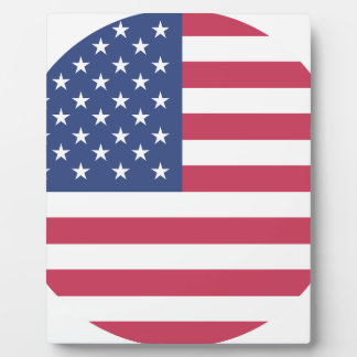 american-flag design circle design plaque