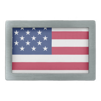 american-flag design circle design rectangular belt buckle